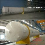 heat shrink wrapping of 32 meter column