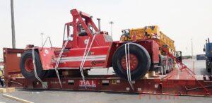lifting, loading and lashing of kalmar forklift