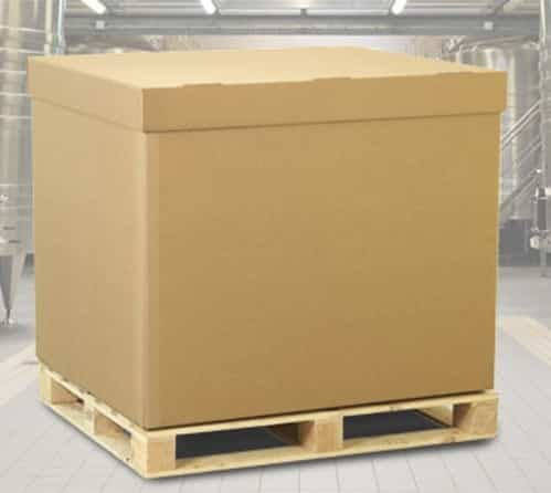 fiberboard square box with pallet